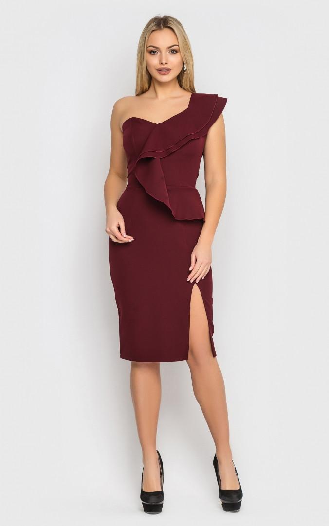 Вечернее платье (бордовое)