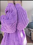 Лиловый свитер размер s-m, оверсайз Fashion, фото 2