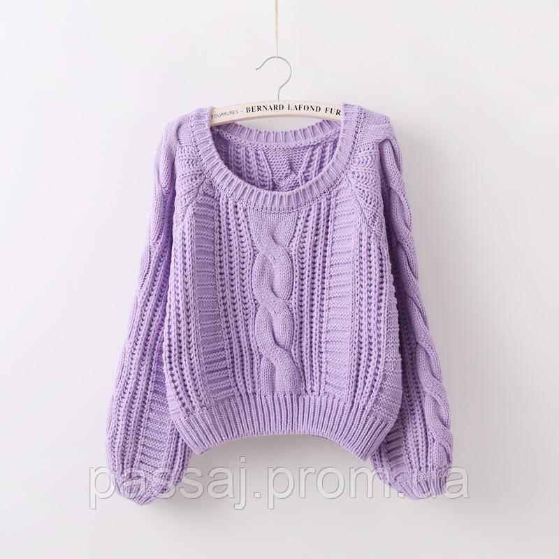 Лиловый свитер размер s-m, оверсайз Fashion