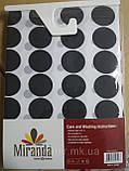 """Шторка для ванной комнаты """"Миранда"""" 180х200 см из полиэстера черно-белая, фото 4"""