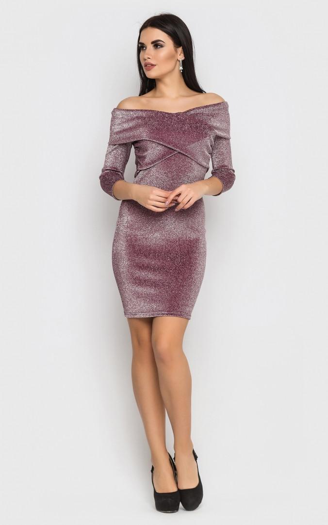 Розкішне коротке плаття-міні (рожеве)