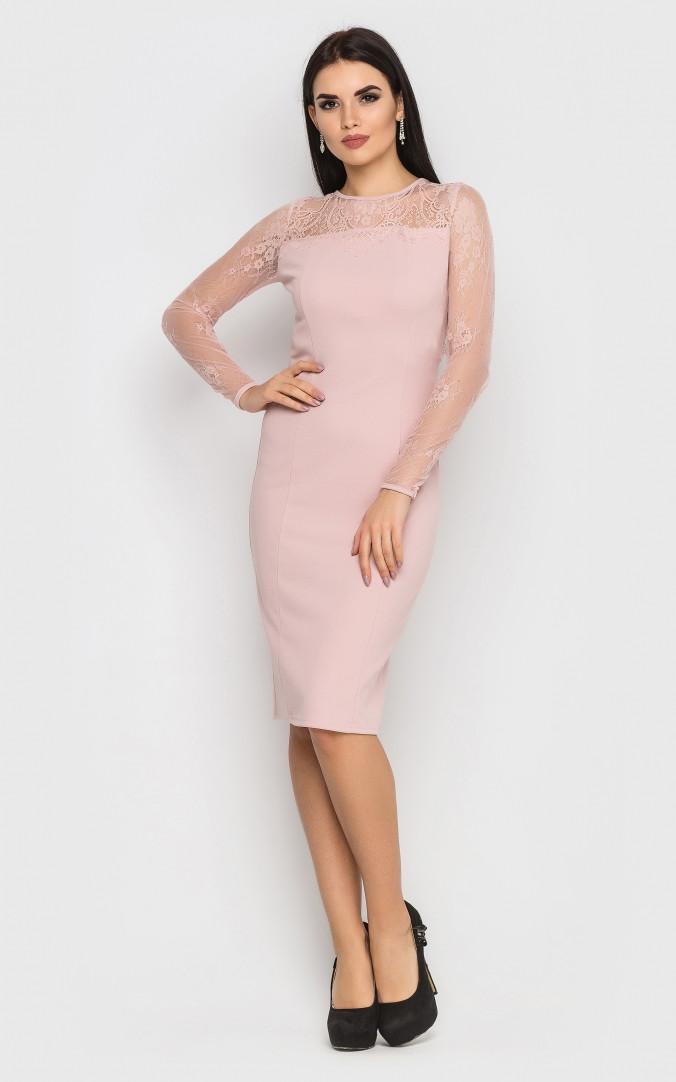 Вечірній сукні-міді (рожеве)