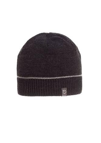 Однотонная качественная черная мужская шапка., фото 2