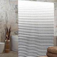 """Шторка для ванной комнаты """"Миранда"""" 180х200 см из полиэстера черно-белая"""