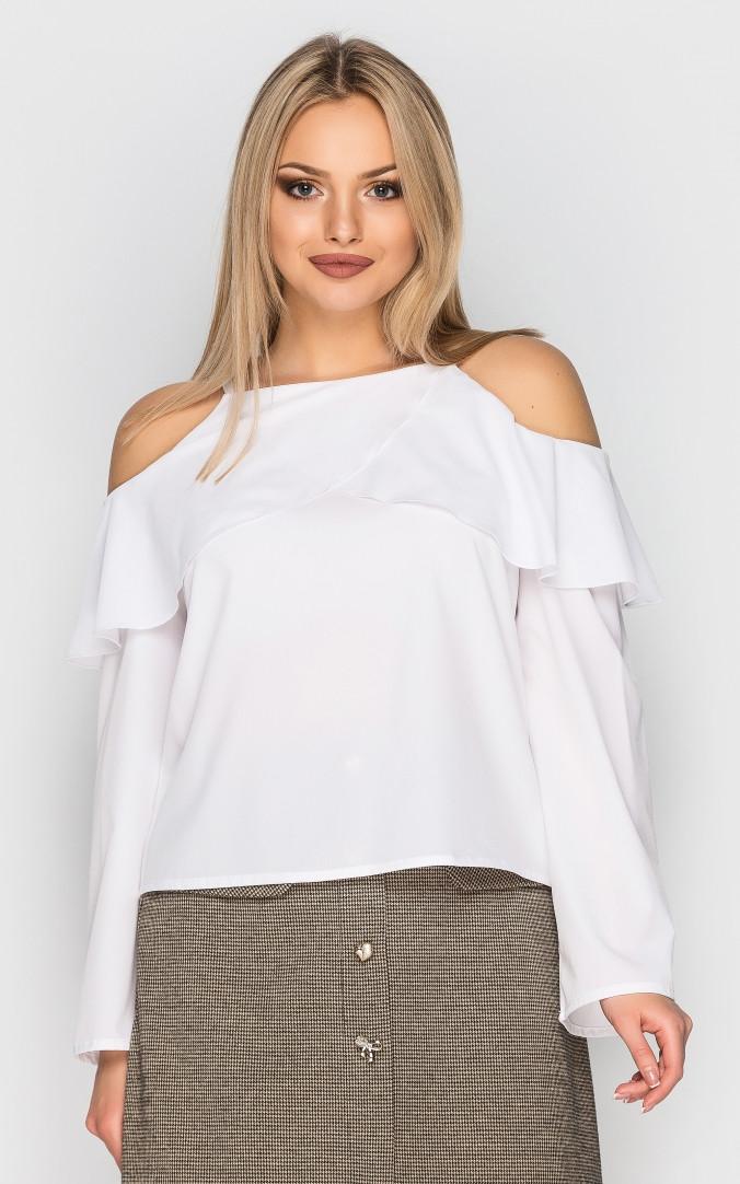 Блуза с открытыми плечами (белая)