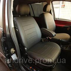 Авточехлы Peugeot Partner 2008+ (Экокожа) Чехлы в салон Черные