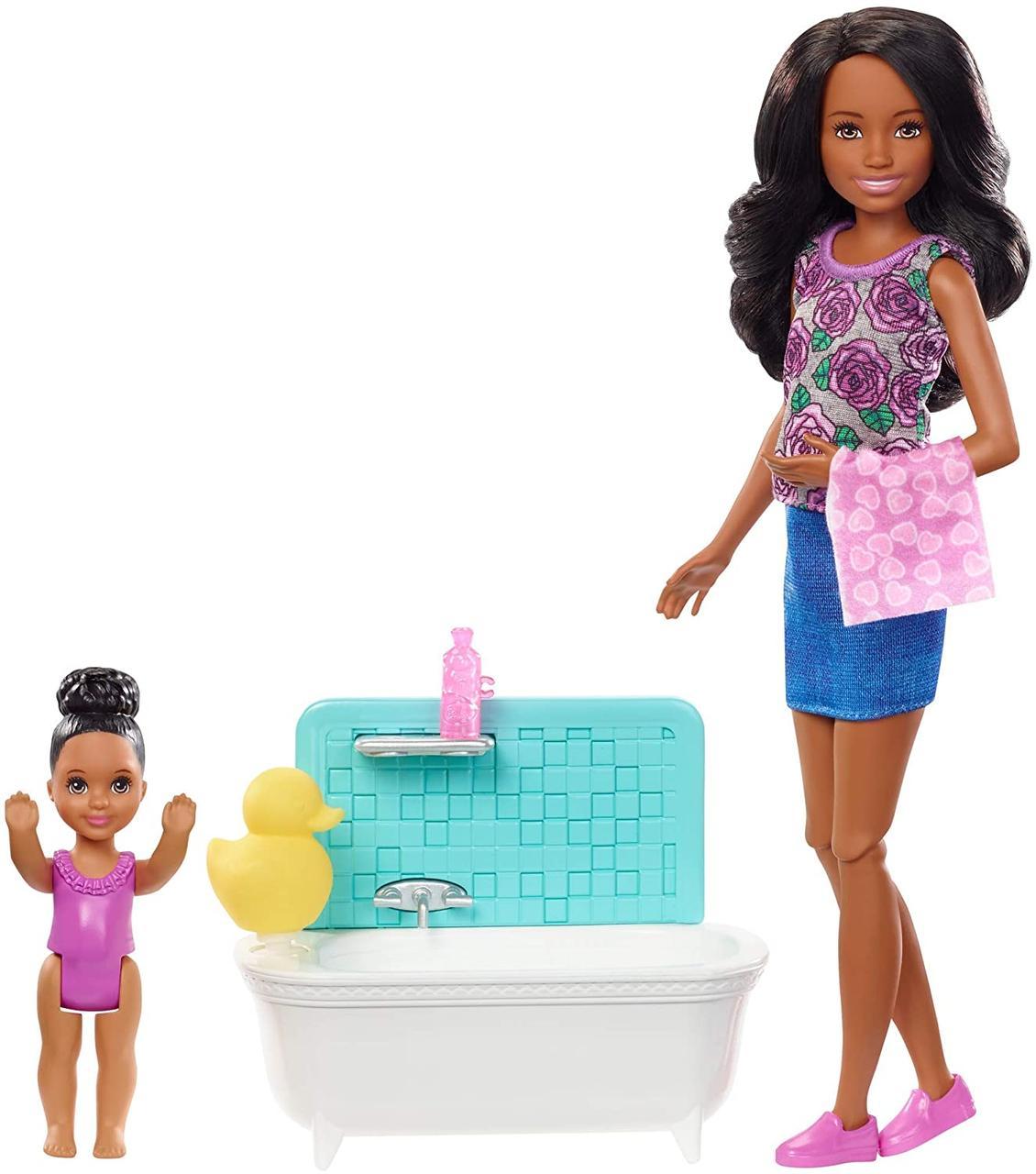 """Игровой Набор Барби Скиппер няня """"Ванная комната"""""""