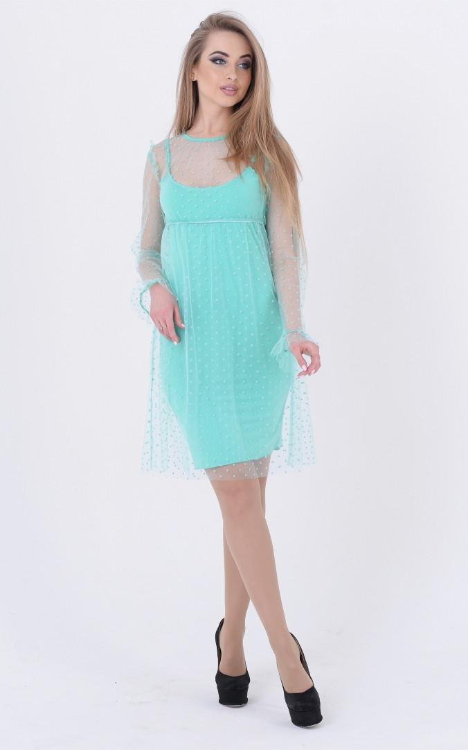 Нежное платье горох