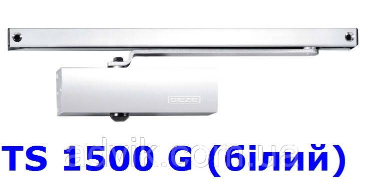 Доводчик Geze TS 1500 G з ковзною тягою (білий)