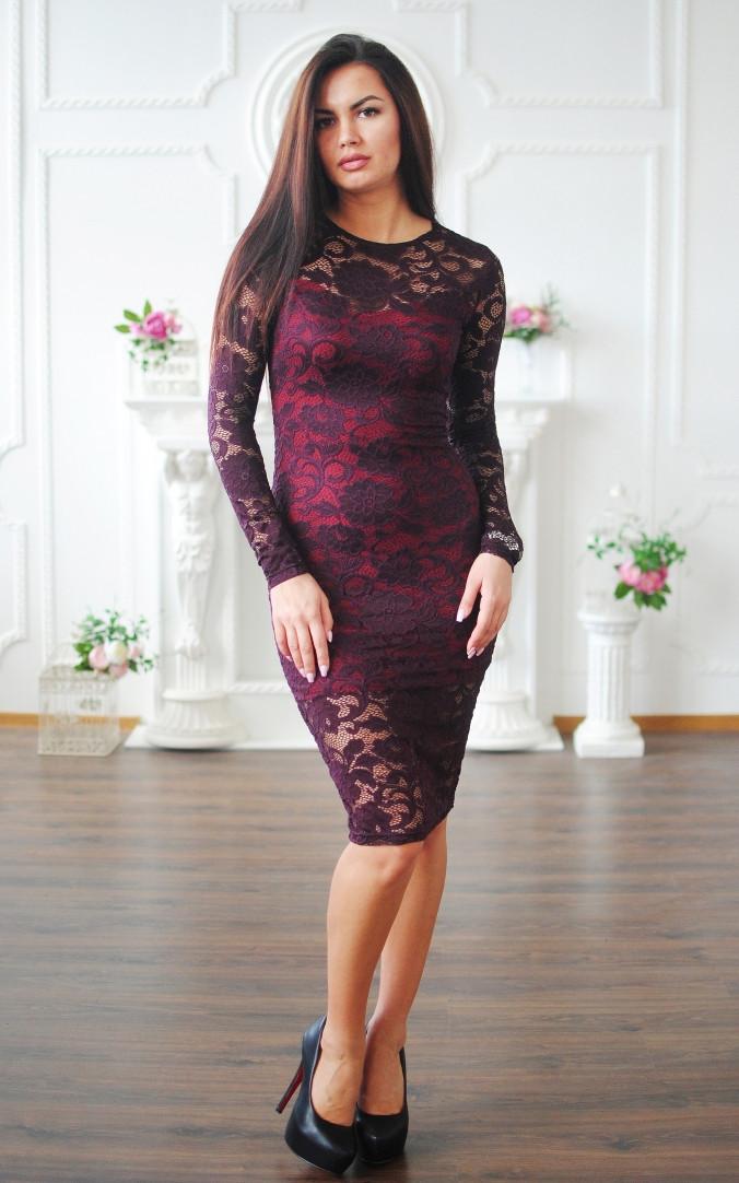 Элегантное гипюровое платье