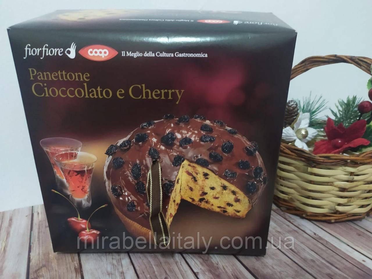 Панеттоне с шоколадом и вишней