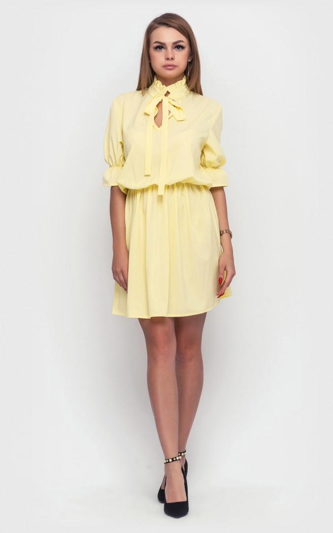 Жіноче літнє плаття (жовте)