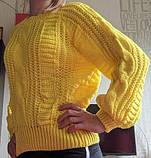 Очень красивый желтый, лимонный свитер S-M, фото 2