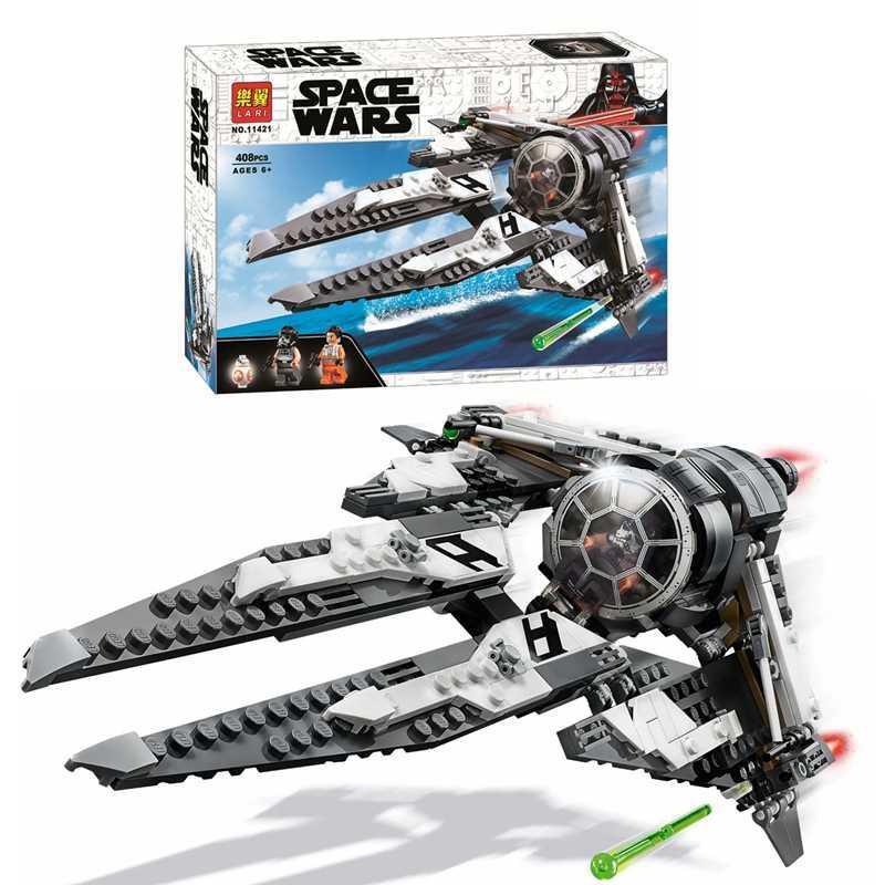 """Конструктор 11421 STAR WARS """"Перехоплювач СІД Чорного аса"""" Зоряні війни, 408деталей."""
