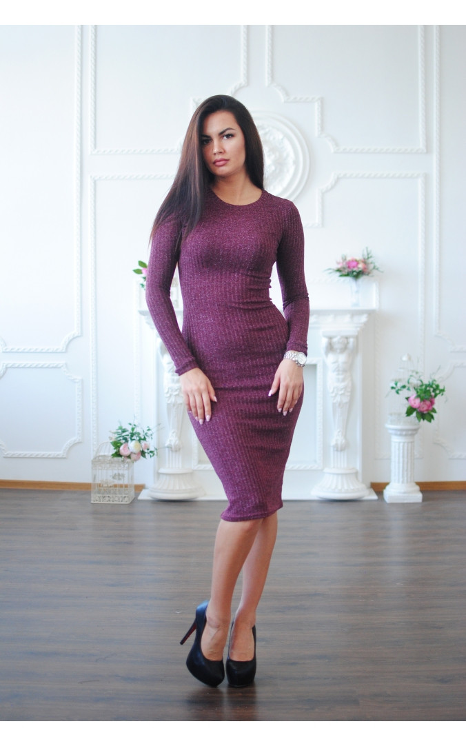 Повседневное платье люрекс