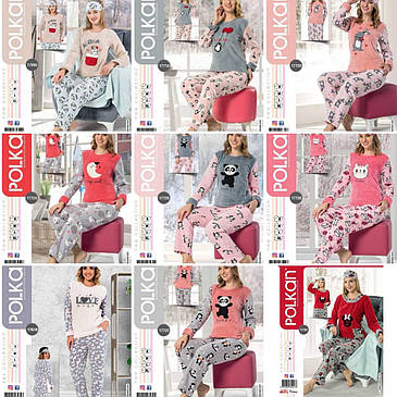 Молодёжная махровая  пижама с повязкой  42-48 размеры, фото 2