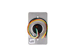 Кнопка выхода бесконтактная металлическая врезная SEVEN K-7490N, фото 2