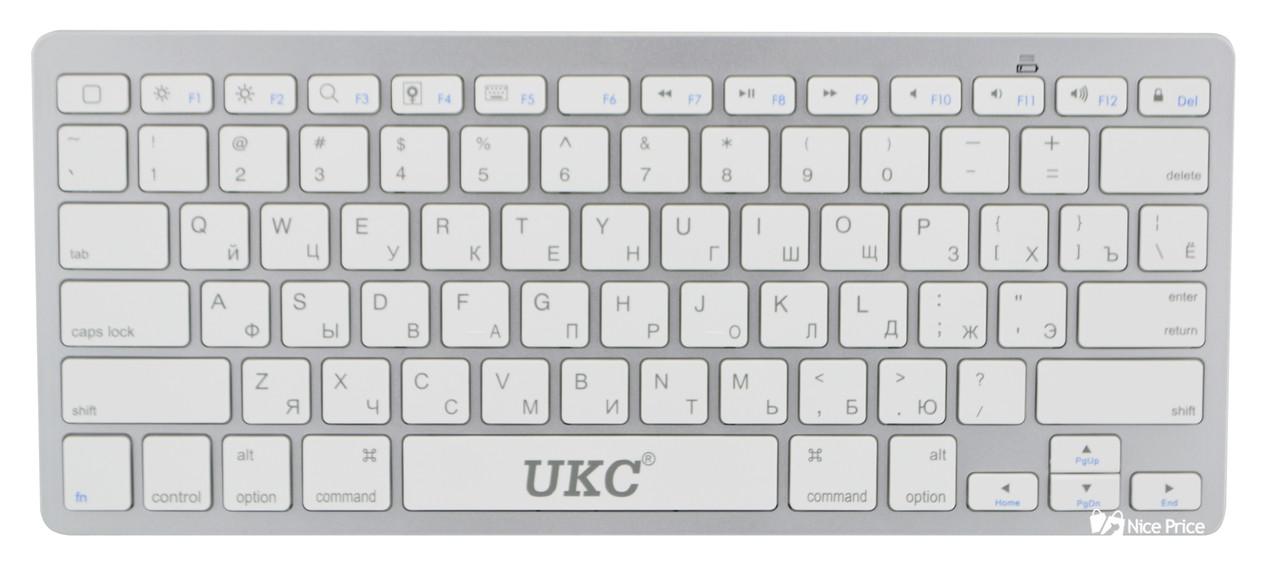Беспроводная Bluetooth клавиатура UKC BK3001 (X5) Silver (3710)