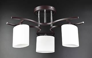 Люстра стельова на 3 лампочки 2441/3 Чорний 27х48х48 див.
