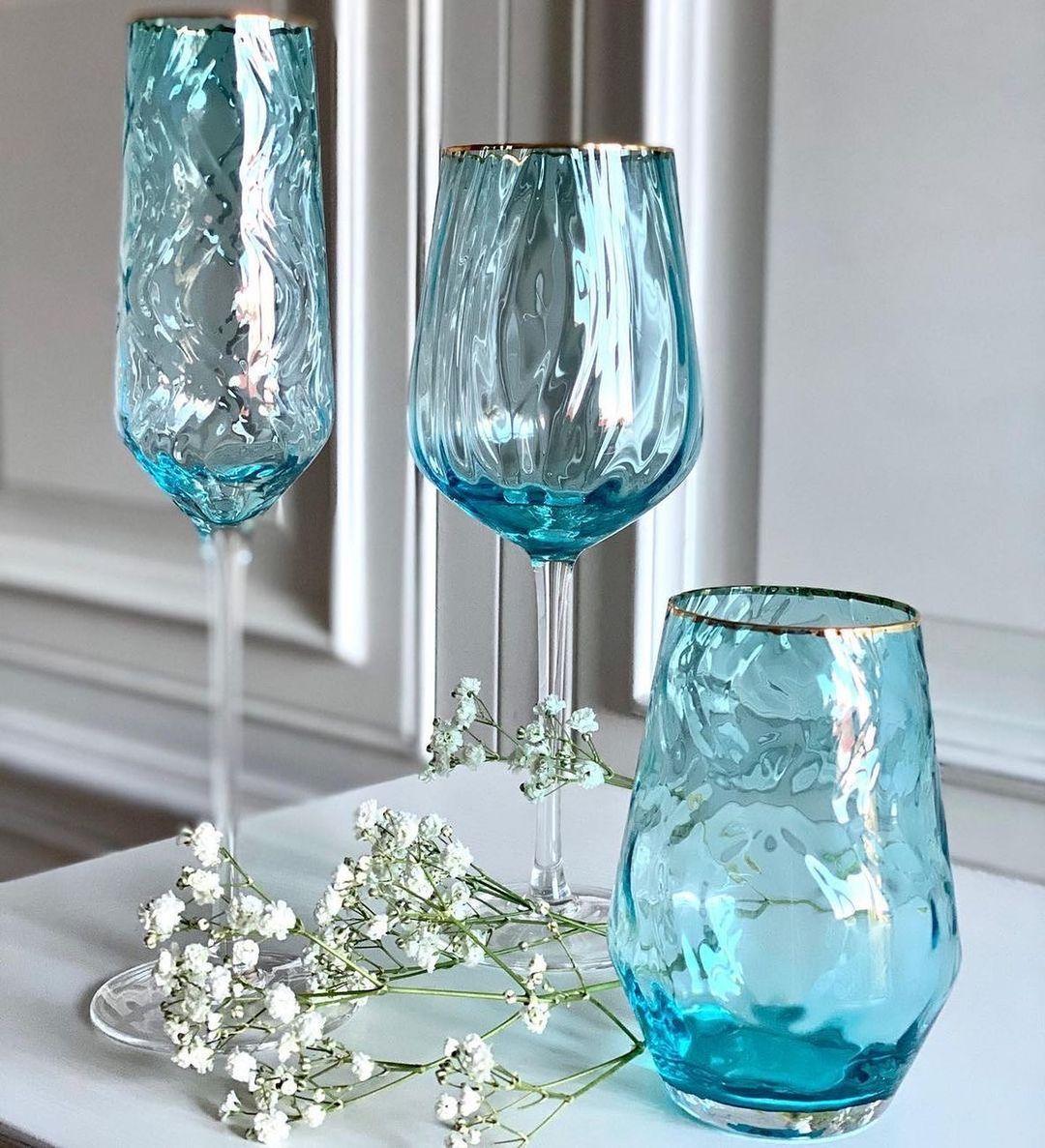 "Набор бокалов для вина ""Голубая волна"" 550 мл 4 шт ML03"