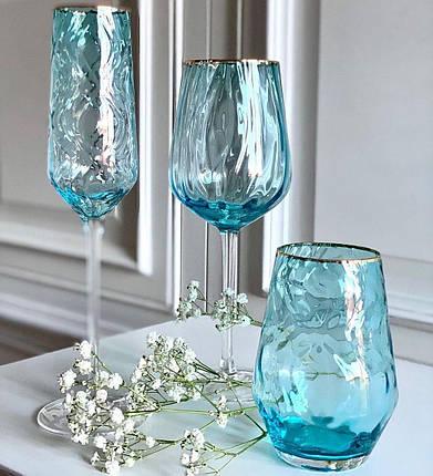 """Набор бокалов для вина """"Голубая волна"""" 550 мл 4 шт ML03, фото 2"""