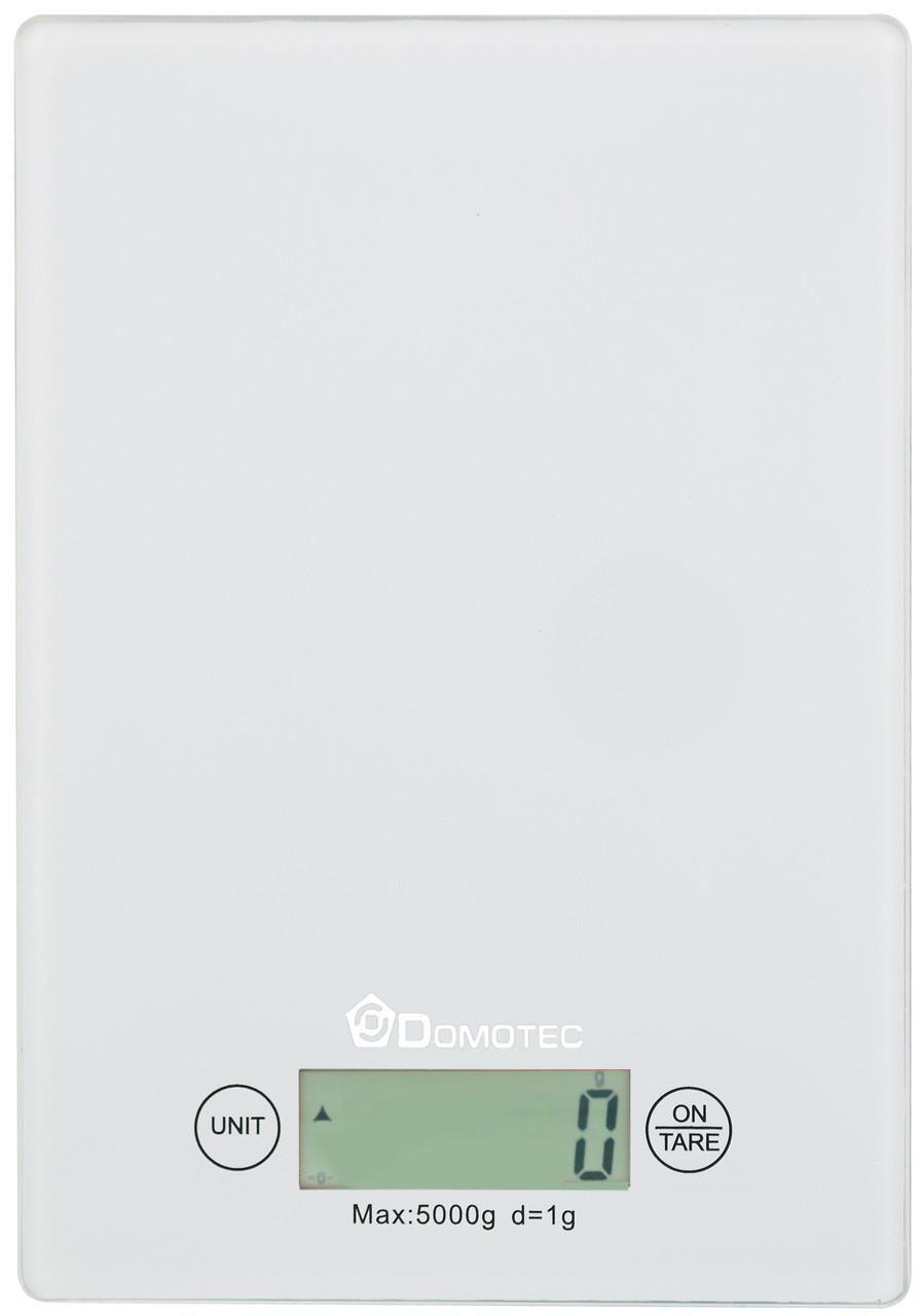 Электронные кухонные весы Domotec MS-912 до 5 кг White (3273)