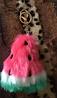 Брелок пушок бубон арбуз меховой, фото 4
