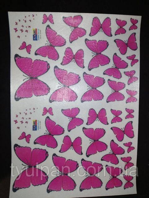 Вафельная картинка съедобная для торта бабочки