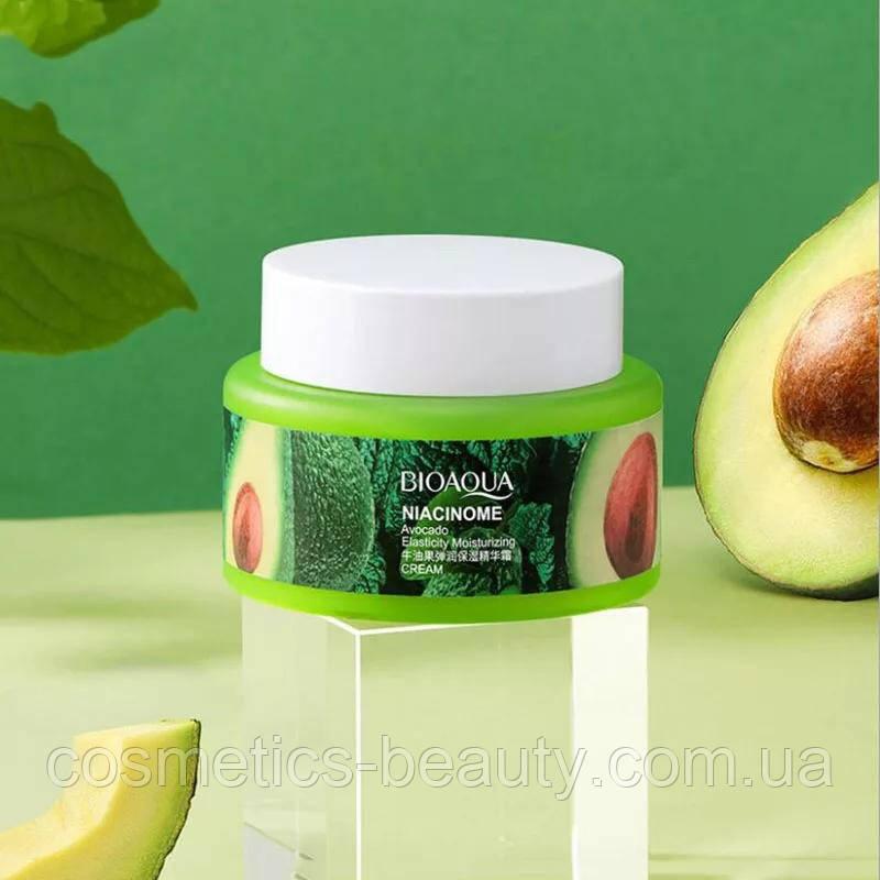 Крем для тонуса и сияния лица с маслом авокадо и никотинамидом BIOAQUA Niacinome Avocado Cream, 50 ml