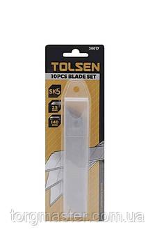Набор  лезвий сегментный 25мм  10 шт TOLSEN SK5 30017