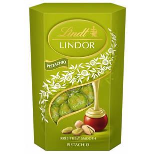 Шоколадні цукерки Lindt Lindor Pistachio з фісташковим праліне, 200 гр.