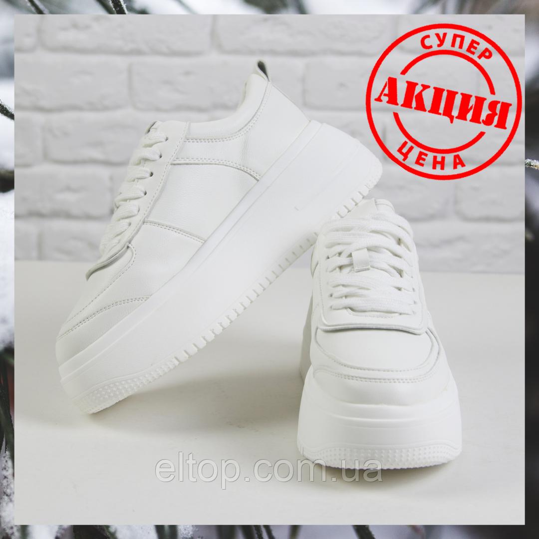 Стильные зимние женские кроссовки на платформе белые Зимняя женская обувь спортивная Violeta размер 36 - 41