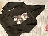 """Черная толстовка """"крутой кот"""", свитшот, яркая кофта с котом, фото 4"""