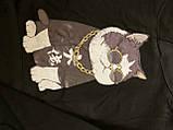 """Черная толстовка """"крутой кот"""", свитшот, яркая кофта с котом, фото 5"""