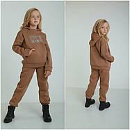 Модный детский спортивный костюм из трёхнити на флисе на рост с 128 по 152см, фото 2