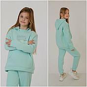Модный детский спортивный костюм из трёхнити на флисе на рост с 128 по 152см, фото 3