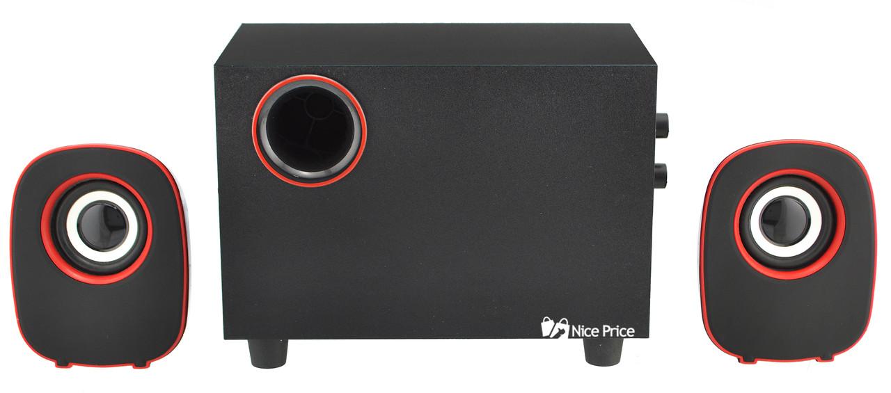 Колонки для ПК компьютера FT-H3 Red (2823)