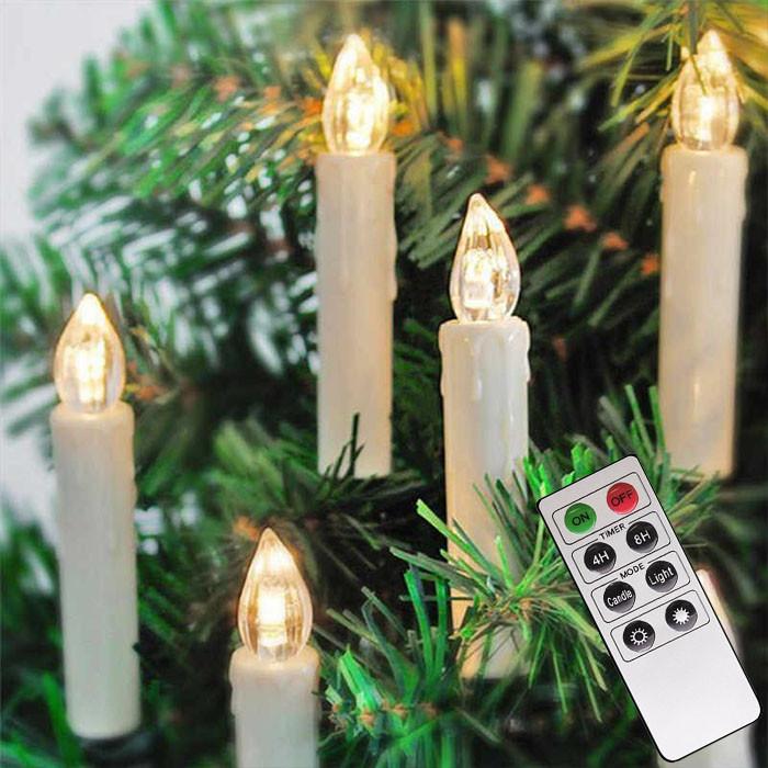 Гирлянди свічки безпровідні 12шт + пульт (білий теплий)