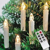 Гирлянди свічки безпровідні 12шт + пульт (білий теплий), фото 1
