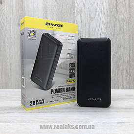 Powerbank AWEI 20000 mAh P47K (black)