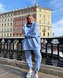 Женский теплый спортивный костюм/комплект Голубой, фото 3