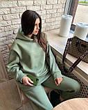 Женский теплый спортивный костюм/комплект Зеленый, фото 2