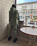 Женский теплый спортивный костюм/комплект Зеленый, фото 3