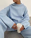 Женский теплый комплект Голубой, фото 3