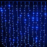 Гирлянда Водопад Штора синяя 3x2м LED 400 диодов светодиодная гирлянда Xmas герлянда Синий цвет, фото 3