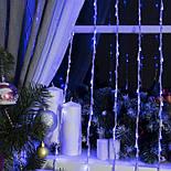 Гирлянда Водопад Штора синяя 3x2м LED 400 диодов светодиодная гирлянда Xmas герлянда Синий цвет, фото 2
