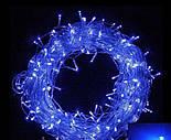 Гирлянда Водопад Штора синяя 3x2м LED 400 диодов светодиодная гирлянда Xmas герлянда Синий цвет, фото 4
