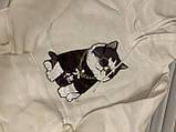 """Белая толстовка """"крутой кот"""", свитшот, яркая кофта с котом, фото 4"""