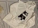 """Белая толстовка """"крутой кот"""", свитшот, яркая кофта с котом, фото 6"""
