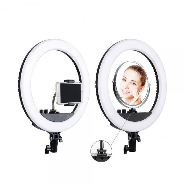 """Кольцевая LED лампа SMN-12"""" + зеркало (30см) (421-450)"""